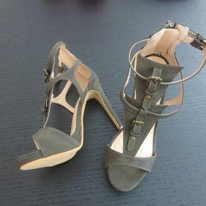 New Olive Green High Heel Sandals Cape Robbin 7